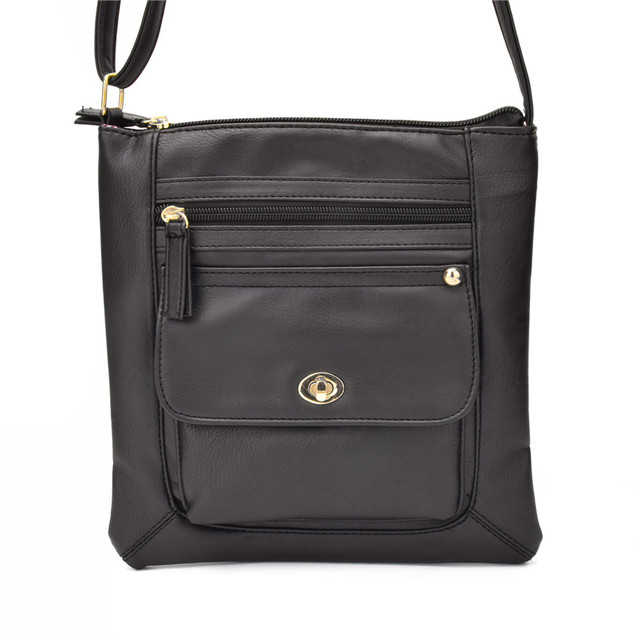 Classical Vintage Women Leather Crossbody bag Purses Messenger bags Slim  Multi Front Pocket handbag Small Shoulder bags hand bag 489264da91678