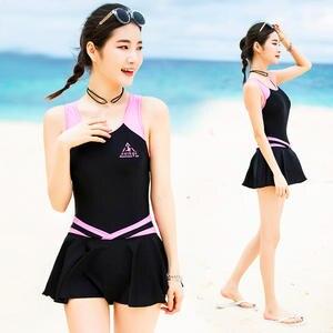 da027de179 VERZY Pretty Beach Cute Sexy A-Line Print Young Ladies Bathing Suit
