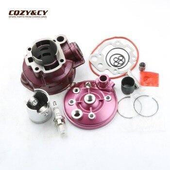 49mm/12mm 90cc gran cilindro Kit de cilindro y la cabeza del cilindro para minarelli CPI SM SX 50 Supercross AM6 2T