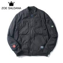 Zoe Saldana 2017 New Winter Thickening Coats Men Solid Casual Parkas Fashion Brand Clothing Slim Fit Zipper Windbreaker Jacket