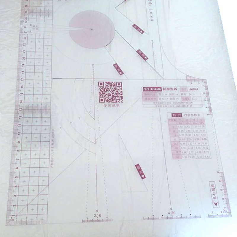 1:1 Fashion Cloth Design Ruler Crop Mold School Student Teaching Apparel Drawing Template Garment Prototype Ruler