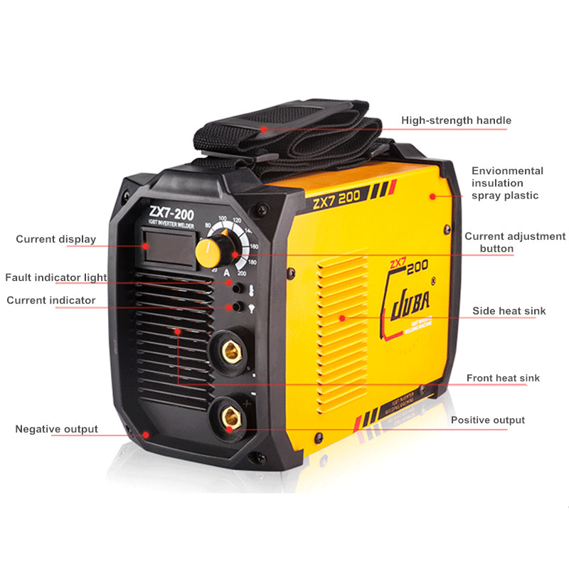 ZX7-200 200A 6.5KVA IP23 Inverter Arc Electric Welding Machine MMA Welder for Welding Working and Electric Working redbo mma arc 250s dc arc electric intenter welding machine mma welder for welding working and electric working