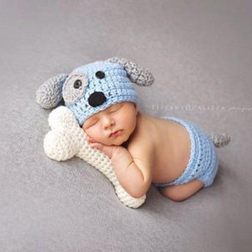 Aliexpress Buy Crochet Puppy Beanie And A Bone Set Photography
