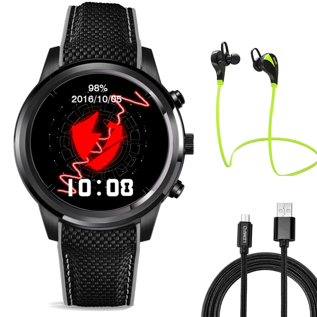 2017 Best ! Lemfo LEM5 smart watch phone 1GB+8GB Android 5.1 OS MTK6580 Quad-core Smartwatch support 3G Nano SIM card GPS Wifi