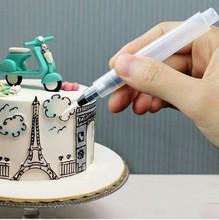 Zestaw dysz narzędzie dekoratory do deserów ciasto pióra dekorujące oblodzenie rurociągi krem strzykawki porady Muffin ciasto pióra dekorujące