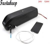 Tubo ebike batería 24v 12ah bicicleta eléctrica batería de iones con 5 0 v cargador USB y bms|Batería de bicicleta eléctrica|Deportes y entretenimiento -