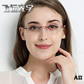 Óculos sem aro, diamante corte óculos moda mulher bonita temperamento prescrição óculos de miopia hipermetropia 34
