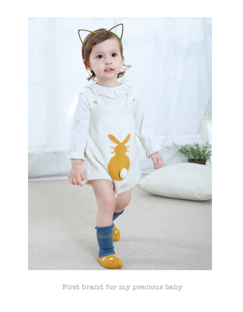0-2Y Winter Baby Girl Boy Cotton Warm Thickness Knee Socks Children Kids Terry Loose Top Anti-slip Middle Tube Sox 3pairs/Lot 7