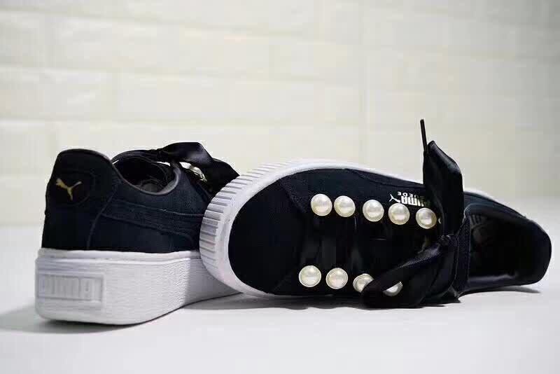 2018 PUMA FENTY Suede Cleated Creeper Women s First Generation Rihanna  Classic Basket Suede Tone Simple Badminton Shoes 36-40 e0514200e72f