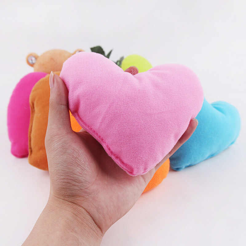 14 × 12 × 4 センチメートル素敵なソフトハート型ペット枕ぬいぐるみペット犬猫のおもちゃ枕子犬ベッド犬小屋犬のおもちゃ