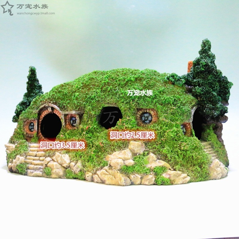Large Reptile Zoo Forest Green Dungeon Landscape Spider Box Lizard Hermit Crab Reptile Aquarium Decoration Akvaryum Dekor