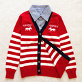Marca Nuevos Niños Suéteres Niños rebecas de los niños Prendas de Punto muchachos niño ropa de caballo pony impresión 100% algodón suéteres casuales
