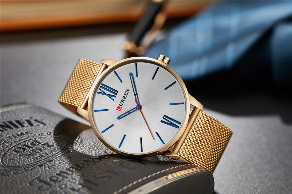 HTB1InVeRpXXXXcrXXXXq6xXFXXXn - CURREN Luxury Stainless Steel Business Watch for Men