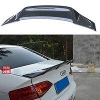 Для Audi A4 B8 B8.5 украшение автомобиля Высокое качество углеродного волокна задний спойлер багажника 2009 2012 R Стиль
