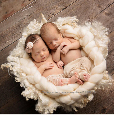 Organic Props Knit Mini Wool Blanket RTS Sand Yellow Basket Stuffer filler Baby Layering Baby Natural Props Newborn Props
