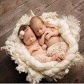 Hot 4 M cobertor de lã enchimento cesta Stuffer bebê recém-nascido foto fotografia Props Blanket fundo cesta bebê adereços presente do chuveiro