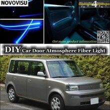 Нововису для TOYOTA bB для Daihatsu Coo интерьер окружающий светильник атмосфера волоконно-оптический светильник s внутри двери панели освещения