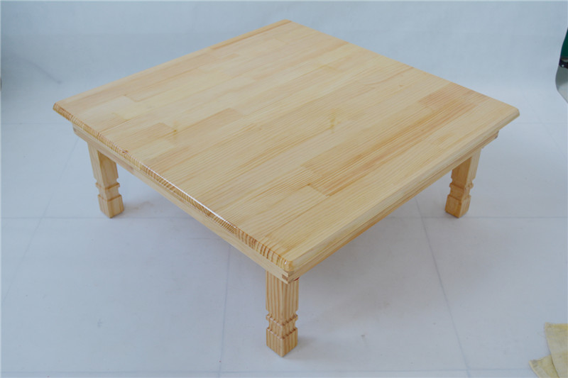 Solid Pine Wood Folding Table Square 80cm 2 Finish Natural Brown Living Room Furniture Large