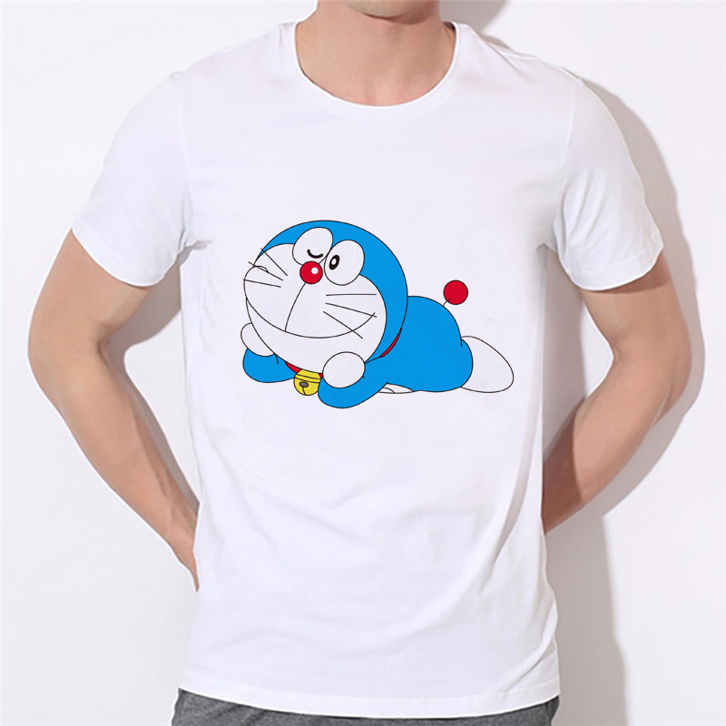 Men Japan Anime Men T-shirt 2018 New Doraemon T Shirt Summer Short Sleeve Doraemon boy T Shirts Tops Men Tee 10N-3#