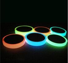 Reflecterende Glow Tape zelfklevende Sticker Verwijderbare Lichtgevende Tape Fluorescerende Glowing Dark Opvallende Waarschuwing Tape