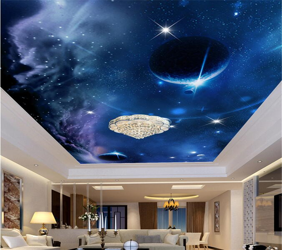 Beibehang Custom Wallpaper 3d Mural Starry Wallpaper Bedroom Ceiling Roof Ceiling Space Galaxy Planet Sofa Background Wall Paper Buy At The Price Of 9 19 In Aliexpress Com Imall Com