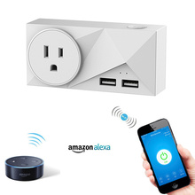 EU/US/UK plug WIFI Smart Plug With Dual USB Ports Timing Socket Wireless Outlet Voice Control with Alexa Google home smart home