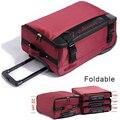 2016 новый большой емкости дорожная чемодан на колесах сумка тележка подвижного сумка высокое качество полиэстер сумки