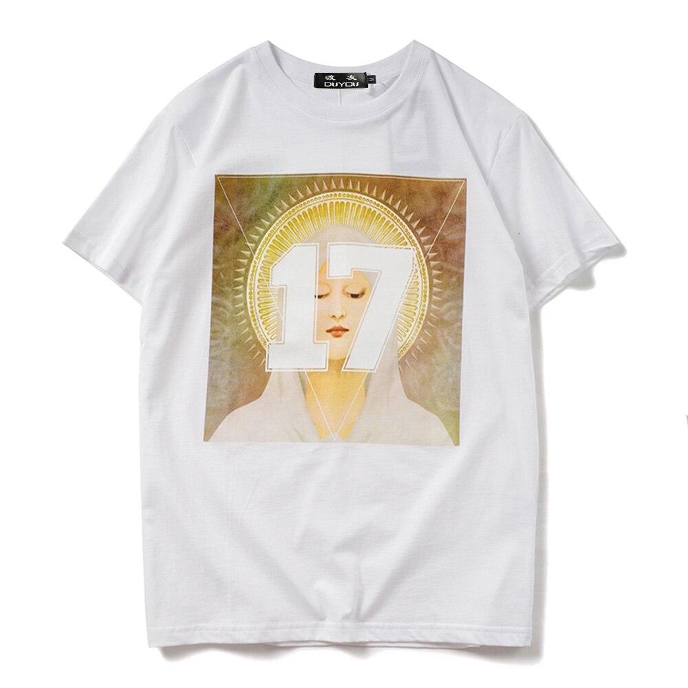 Algodão Hip Hopo Tops Tees Moda Streetwear tshirts