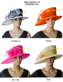 NEW 3 colours Wide brim Organza Hat Church Hat for kentucky derby,wedding,Races.FREE SHIPPING.