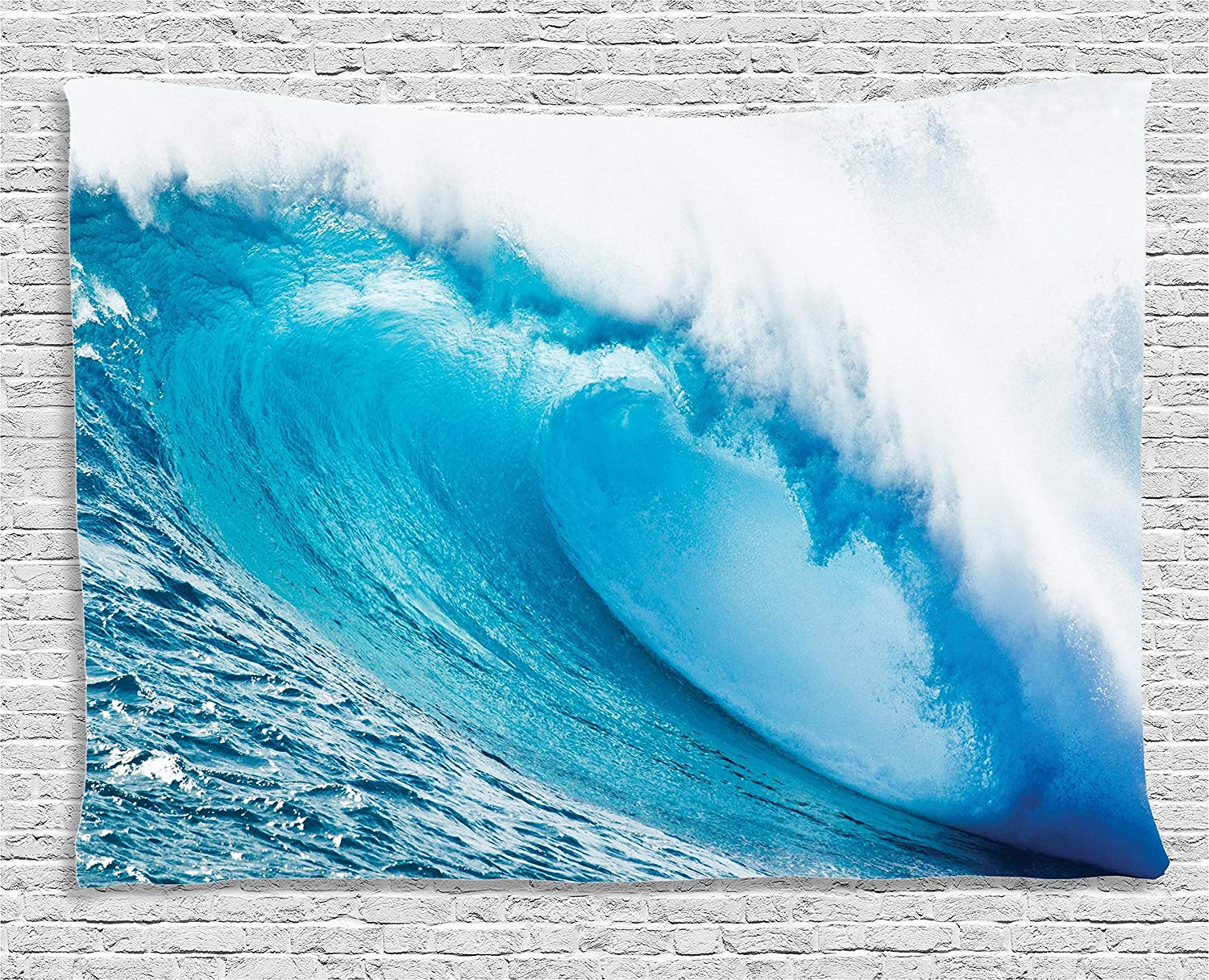 Us 16 42 47 Off Ocean Decor Surfing Water Tube Appeares After Forceful Giant Wave Curls Itself On Sea Bedroom Dorm Wall Hanging Tapestry In Tapestry