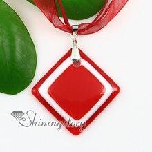 square murano lampwork glass venetian necklaces pendants colored cheap fashion jewellery handmade fashion jewelry