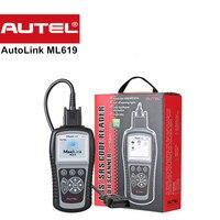 Yeni Otomotiv Tarayıcı Orijinal Autel Maxilink ML619 OBD2 Tarayıcı Motor ABS SRS Hava Yastığı obd teşhis arabalar için autel ml 619