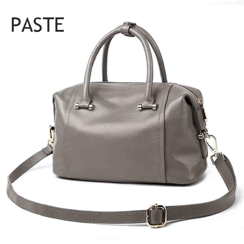 2017 luxury Boston bag Designer women handbag genuine patent leather totes shoulder bag female bolsas femininas patent leather handbag shoulder bag for women