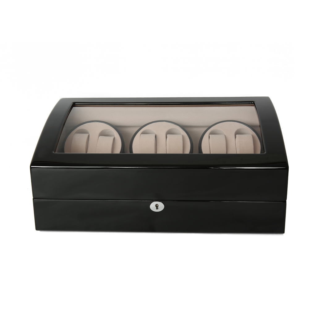 Watch Winder ,LTCJ Wooden Automatic Rotation 6+7 Watch Winder Storage Case Display Box (bw) watch winder lt wooden automatic rotation 2 0 watch winder storage case display box outside is rose red and inside is white