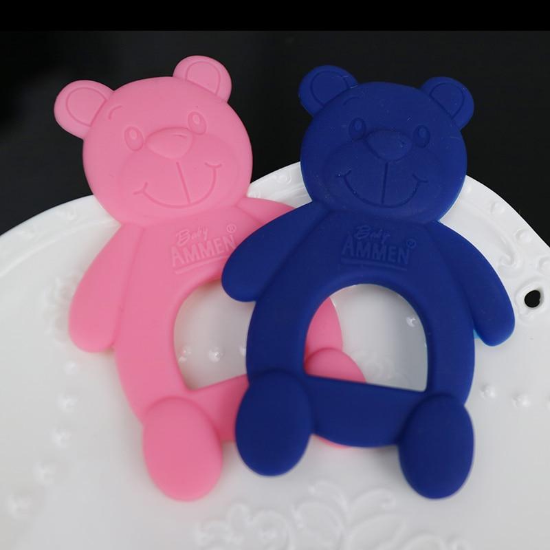 1 Stück Baby Beißring Neugeborenes Babyspielzeug niedlicher Bär - Säuglingspflege - Foto 4