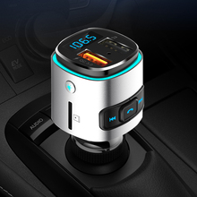 CDEN car MP3 player FM transmitter U disk lossless music Bluetooth receiver hands-free calling USB QC3.0 fast charger