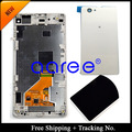 Para Sony Xperia Z1 mini LCD Z1 Compact LCD Screen Display toque digitador assembléia quadro + Back Cover - branco