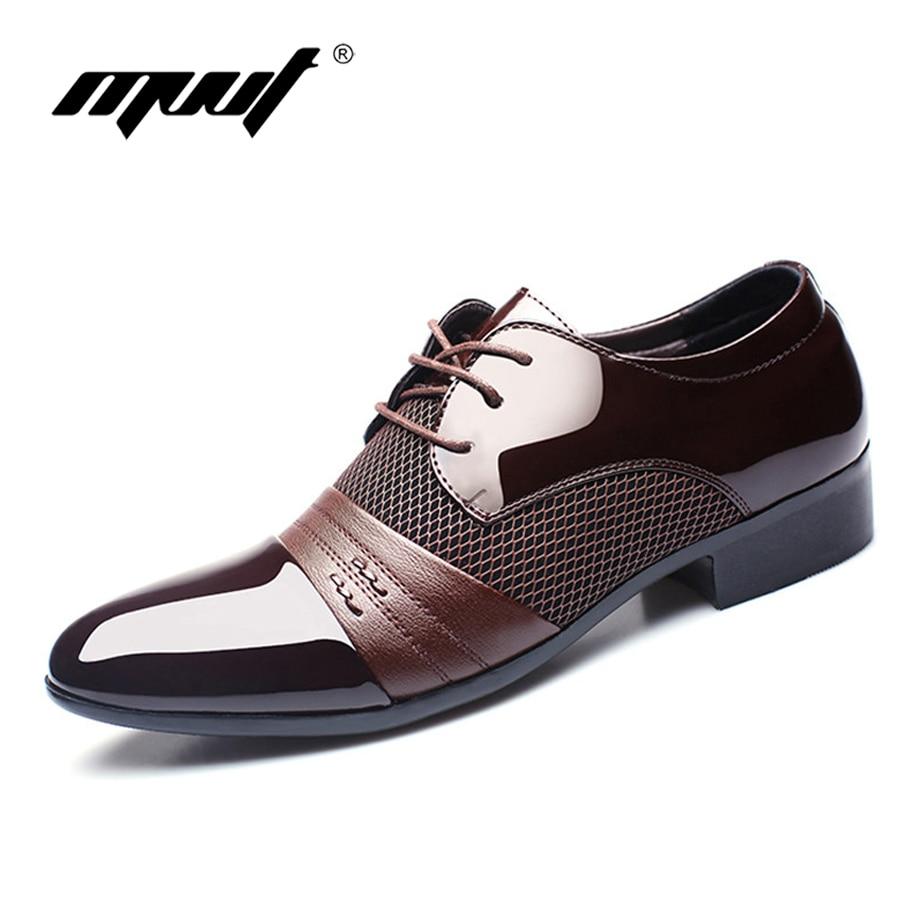 MVVT Plus size 6 5 11 men oxford Genuine leather shoes men flats Brand classics men