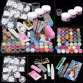 37 Professional Acrylic Glitter Color Powder French Nail Art Deco Tips Set Suitable for professional use or home use Anne