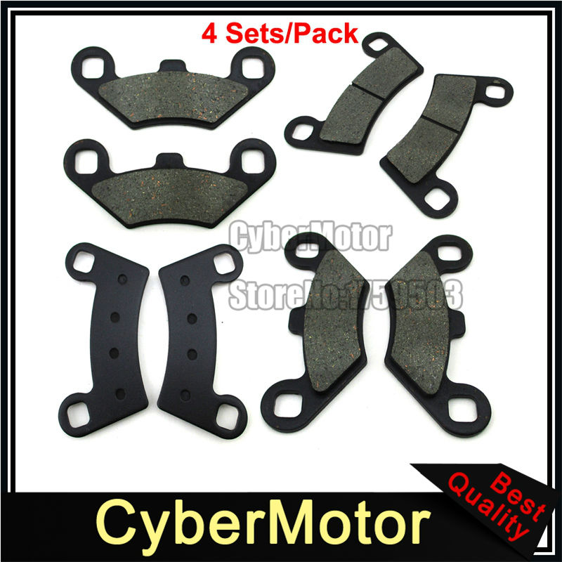 Front & Rear Brake Pads For ATV Polaris Razor RZR 800 EPS S 570 Quad 4 Wheeler