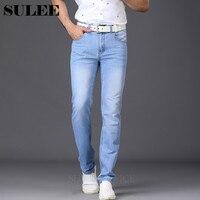 SULEE Utr Cienkie Lekkie męskie Marki 2017 Nowe Mody Dorywczo Lato Style Jeans Skinny Jeans Spodnie Obcisłe Spodnie Stałe kolory