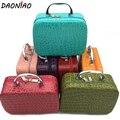 Fashion Luxury handBox Cosmetic Crossbody Boxs Big Capacity Diamond Lattice Makeup Box Storage Bags  #b0001