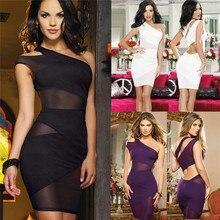Fashion Womens Summer Sexy Sleeveless Plunge Bodycon Dress Ladies Evening Party Mini Pencil Dress Plus Size