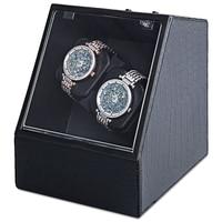Automatic Watch Winder Auto Silent Watch Winder Irregular Shape Transparent Cover Wristwatch Box With US Plug