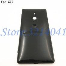 Original Neue 5,7 zoll Für Sony Xperia XZ2 Glas Zurück Batterie Abdeckung Hinten Tür zurück fall Gehäuse Fall Reparatur teile + Logo