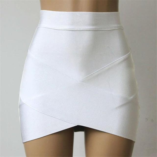 e7ff71fd4 € 11.01  Faldas ceñidas a la cintura 2018 nuevas faldas ajustadas a la moda  cruzadas ajustadas para Mujer Faldas cortas de moda de verano para ...