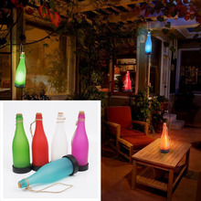 Creative Solar Lamp Garden Art Lighting LED Sense Cork Wine Bottle LED Hanging Lamp For Outdoor Landscane Courtyard Patio Light