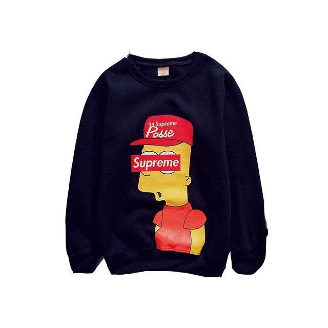 Hip Hop Sweater moda Casual Simpson parejas sudaderas