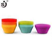 12pcs Silicone Mold Heart Cupcake Soap Silicone Mold
