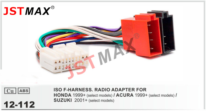 JSTMAX ISO cable car Radio stereo Adapter for HONDA/ACURA/SUZUKI ...